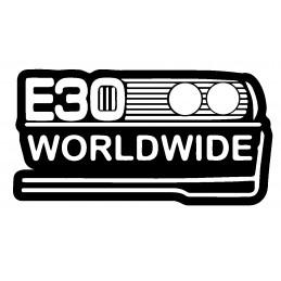 BMW STICKERS WORLDWIDE E30 * - StickCompteur création stickers personnalisés