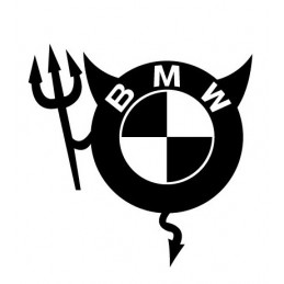 BMW STICKERS DIABLE * - StickCompteur création stickers personnalisés