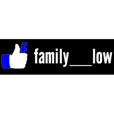 FAMILY LOW Facebook* - StickCompteur création stickers personnalisés