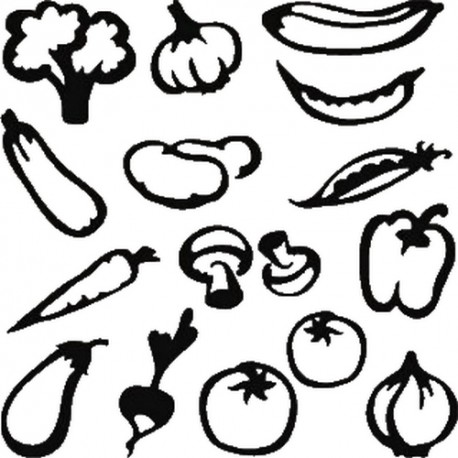 16 STICKERS COOKEO FRUITS ET LEGUMES* - 2