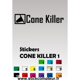 CONE KILLER 1 Stickers*