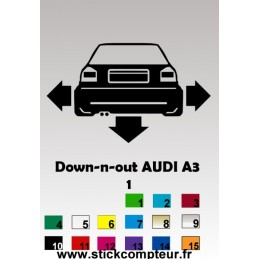 1 stickers Down-N-Out AUDI A3 (1)