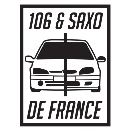 106 et SAXO de france 2020 - StickCompteur création stickers personnalisés