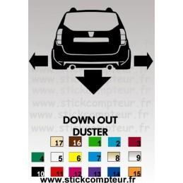 Stickers DOWN OUT DUSTER - StickCompteur création stickers personnalisés