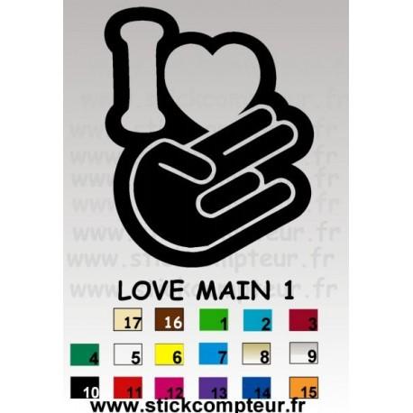 LOVE MAIN 1 Stickers * - StickCompteur création stickers personnalisés