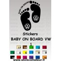 Stickers BABY ON BOARD VW 1
