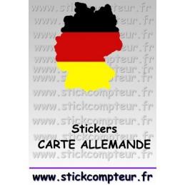 Stickers CARTE DE L'ALLEMAGNE - 1