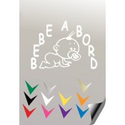 BEBE A BORD 3 Stickers * - 3