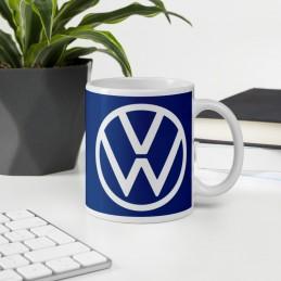 Mug Blanc Brillant Volkswagen 2020f ond bleu - StickCompteur création stickers personnalisés