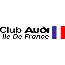 CLUB AUDI ILE DE FRANCE stickers* - StickCompteur création stickers personnalisés