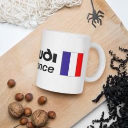 Mug Blanc Brillant CLUB AUDI ILDE DE FRANCE ECRITURE NOIR - StickCompteur création stickers personnalisés