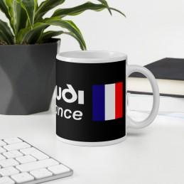 Mug Blanc Brillant CLUB AUDI ILDE DE FRANCE ECRITURE BLANC - StickCompteur création stickers personnalisés