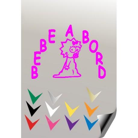 BEBE A BORD 2 Stickers * - 2