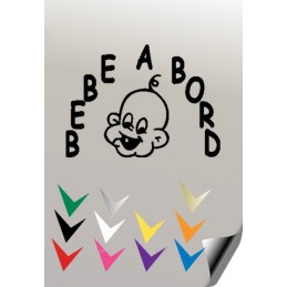 BEBE A BORD 1 Stickers * - 1
