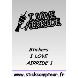 Stickers I LOVE AIRRIDE 1