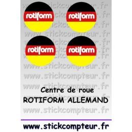 4 Stickers Centre de jantes ROTIFORM ALLEMAND