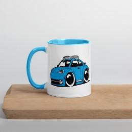 Mug à Intérieur Coloré VW COX model1 - StickCompteur création stickers personnalisés
