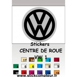 4 Stickers Centre de jantes VW 1
