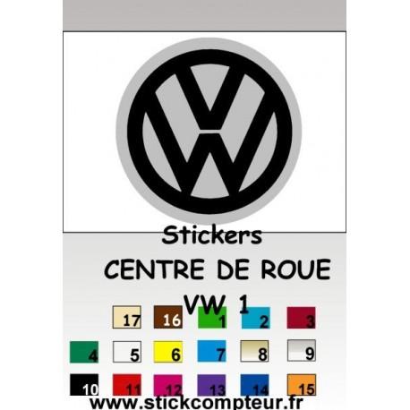 4 Stickers Centre de jantes VW 1 - 1