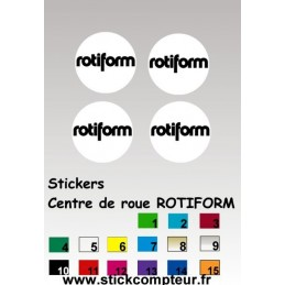 4 Stickers Centre de jantes ROTIFORM