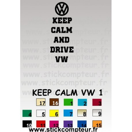 KEEP CALM VW 1