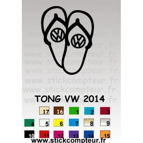 TONG VW 2014 - StickCompteur création stickers personnalisés