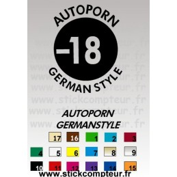 Stickers AUTOPORN GERMANSTYLE - 1