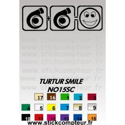 Stickers TURTUR SMILE NO15SC