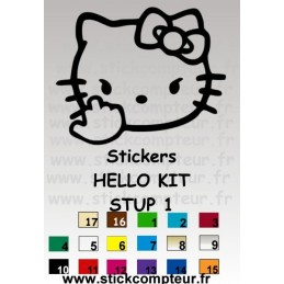 Stickers HELLO KIT STUP 1