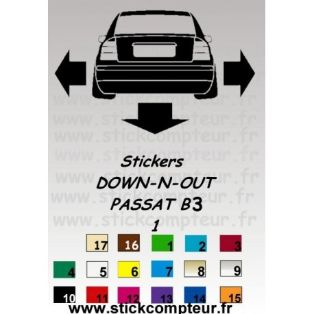Stickers DOW-N-OUT PASSAT B3 1