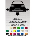 Stickers DOW-N-OUT GOLF 6 GTD
