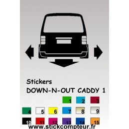 1 stickers 1 Down-n-out CADDY 1