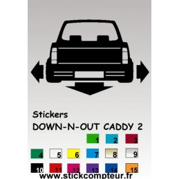 1 stickers 1 Down-n-out CADDY 2