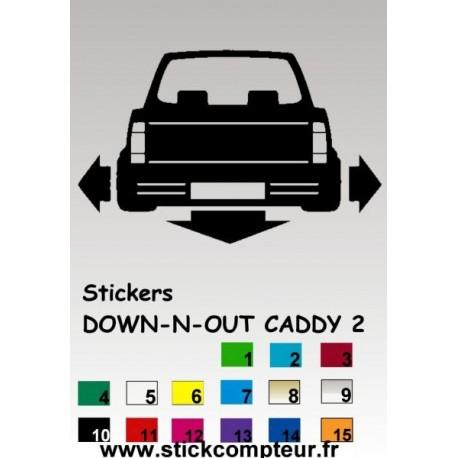 1 stickers 1 Down-n-out CADDY 2 - StickCompteur création stickers personnalisés