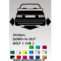 Stickers DOW-N-OUT GOLF 1 CAB 1