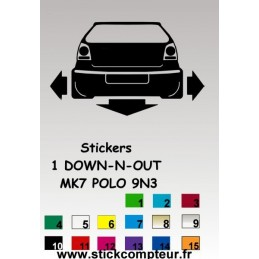1 stickers 1 Down-n-out MK7 POLO 9N3 - 2