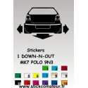 1 stickers 1 Down-n-out MK7 POLO 9N3