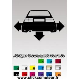 Stickers Down-n-out Corrado 1 - 3