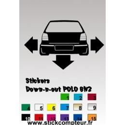 1 stickers Down-n-out POLO 6n2 - StickCompteur création stickers personnalisés