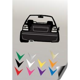 1 stickers autocollant 2 VW GOLF 3