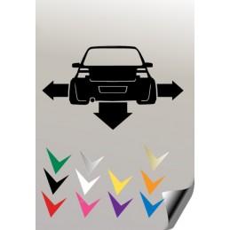 1 stickers autocollant VW GOLF 4