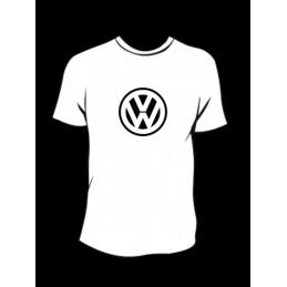 TEE-SHIRT col rond manches courtes VW 1 - StickCompteur création stickers personnalisés