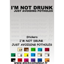 Stickers I'M NOT DRINK JUST AVOIDING POTHOLES 1