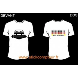 TEE-SHIRT DOWN-N-OUT GOLF 1 CAB devant et MADE IN GERMANY 2 derriere
