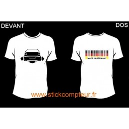 TEE-SHIRT DOWN-N-OUT POLO 9N3 devant et MADE IN GERMANY 2 derriere - StickCompteur création stickers personnalisés