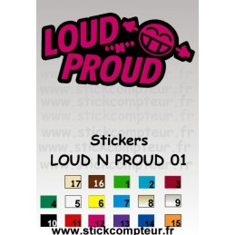 Stickers LOUD N PROUD 01