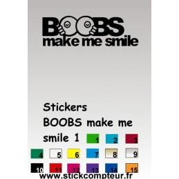 Stickers BOOBS make me smile 1