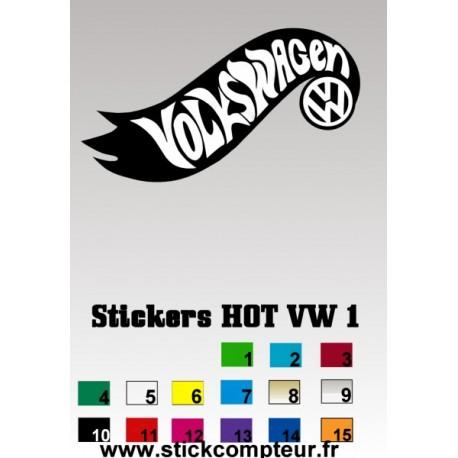 Stickers HOT VW 1 - StickCompteur création stickers personnalisés