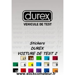 Stickers DUREX VEHICULE DE TEST 2